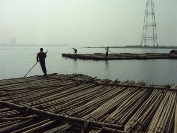 孟加拉放竹排13