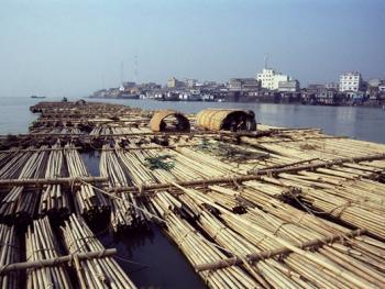 孟加拉放竹排14