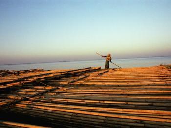 孟加拉放竹排02