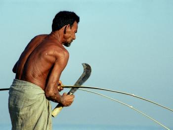 孟加拉放竹排06