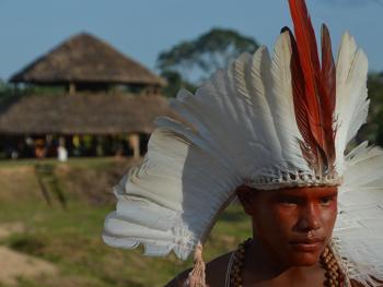 雅瓦纳瓦印第安人的庆典
