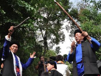 还山鸡节的祭祀仪式05