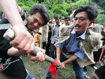 羌人祭山10