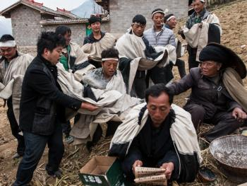 彝族送祖归灵仪式11