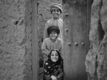 阿曼孩子们的笑脸