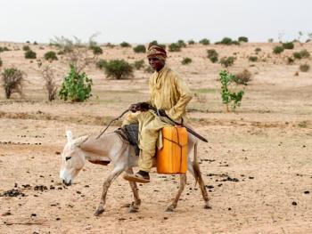 尼日尔干旱地区人畜用水方式10