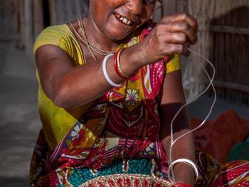 西孟加拉邦妇女的黄麻工艺小组02