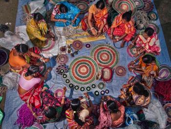 西孟加拉邦妇女的黄麻工艺小组03