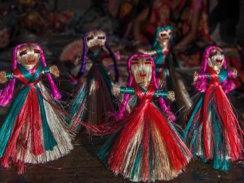 西孟加拉邦妇女的黄麻工艺小组06