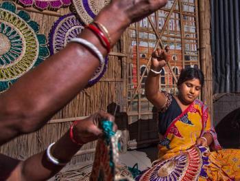 西孟加拉邦妇女的黄麻工艺小组07