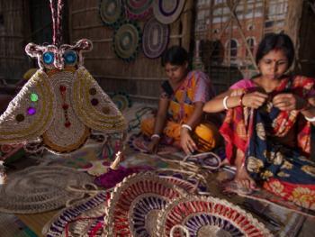 西孟加拉邦妇女的黄麻工艺小组08