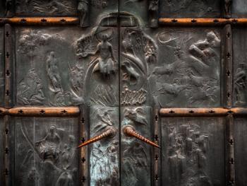欧式建筑的门把手02