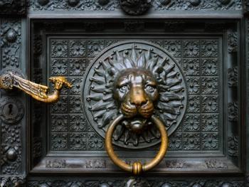 欧式建筑的门把手03