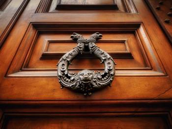 欧式建筑的门把手06