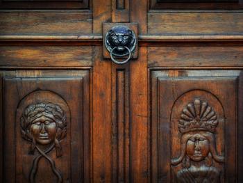 欧式建筑的门把手07