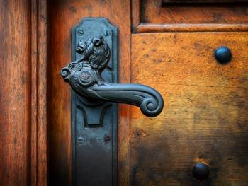 欧式建筑的门把手08