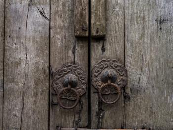 江南传统民居的门环09