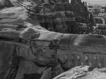 卡帕多西亚的岩洞建筑