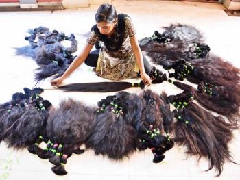 印度的假发生产09