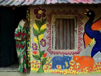 纳亚村的外墙绘画03