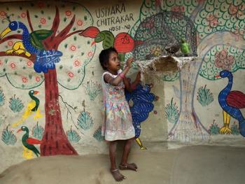 纳亚村的外墙绘画