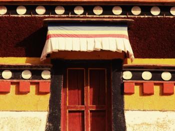 阿坝寺庙的窗户12