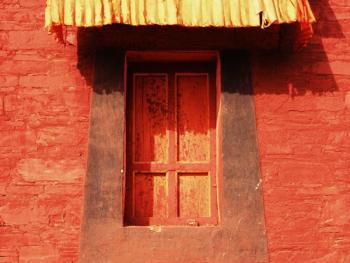 阿坝寺庙的窗户13