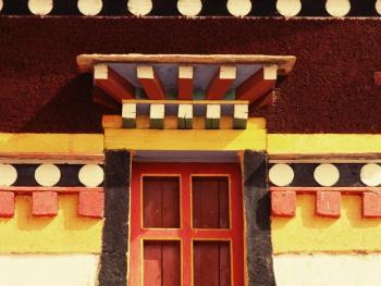 阿坝寺庙的窗户14