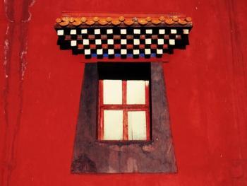阿坝寺庙的窗户02