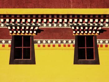 阿坝寺庙的窗户03