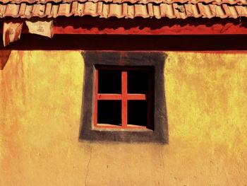阿坝寺庙的窗户08