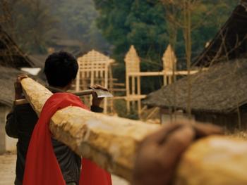 土家族偷梁建房