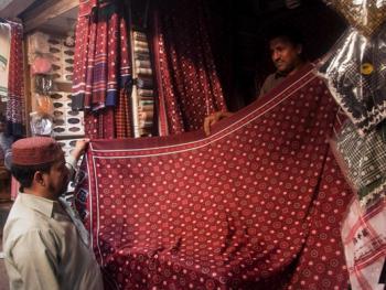 巴基斯坦阿吉拉克披肩制作13