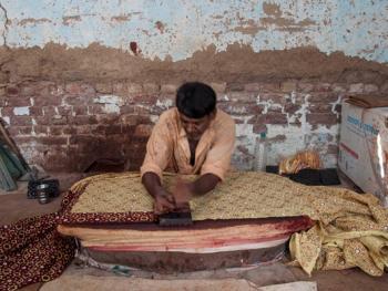 巴基斯坦阿吉拉克披肩制作07