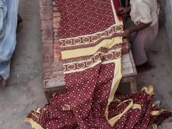 巴基斯坦阿吉拉克披肩制作08