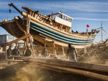 手工造木船11