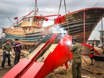 手工造木船12