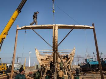 手工造木船03