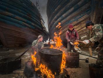 手工造木船05