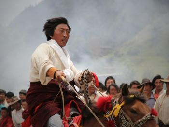 麦宿宗萨寺节日上的骑射比赛14