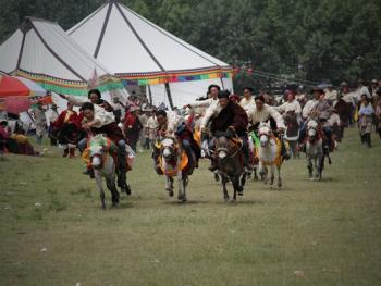 麦宿宗萨寺节日上的骑射比赛07