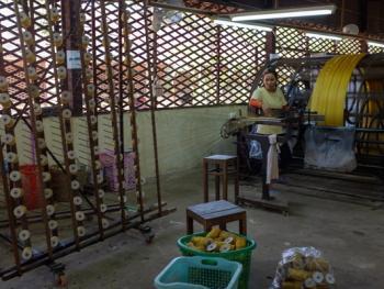 柬埔寨丝绸制作06