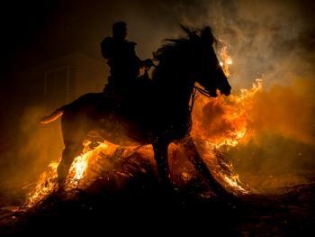 圣安东尼日策马跳火仪式14