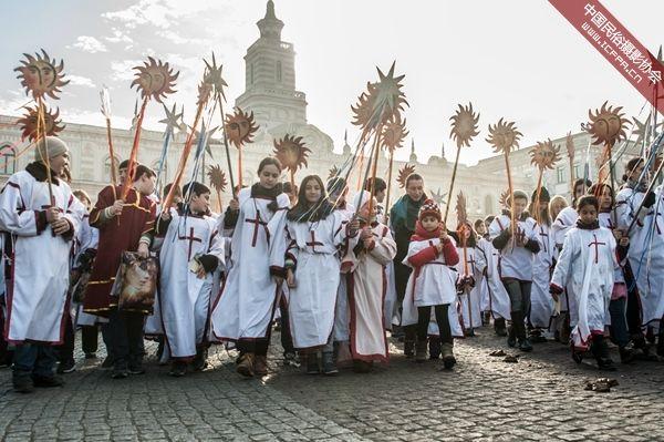第比利斯耶稣诞生日庆典游行