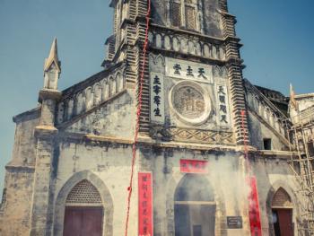 涠洲岛的圣母升天节09