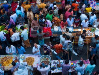 查瓦克巴扎的开斋饭市场