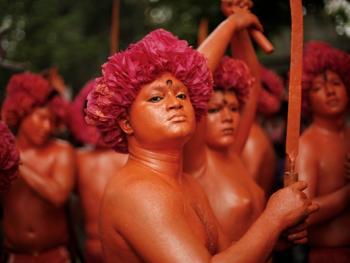 蒙希甘杰印度教徒迎新年的拉卡什10