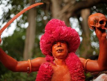 蒙希甘杰印度教徒迎新年的拉卡什11