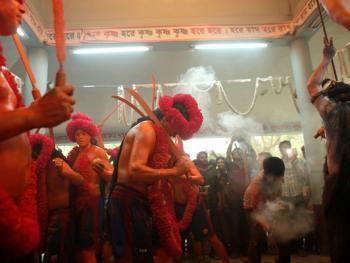 蒙希甘杰印度教徒迎新年的拉卡什12