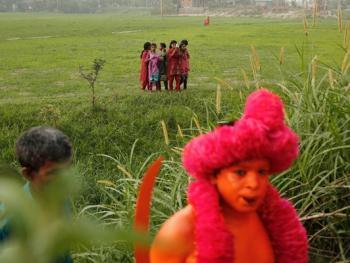 蒙希甘杰印度教徒迎新年的拉卡什14